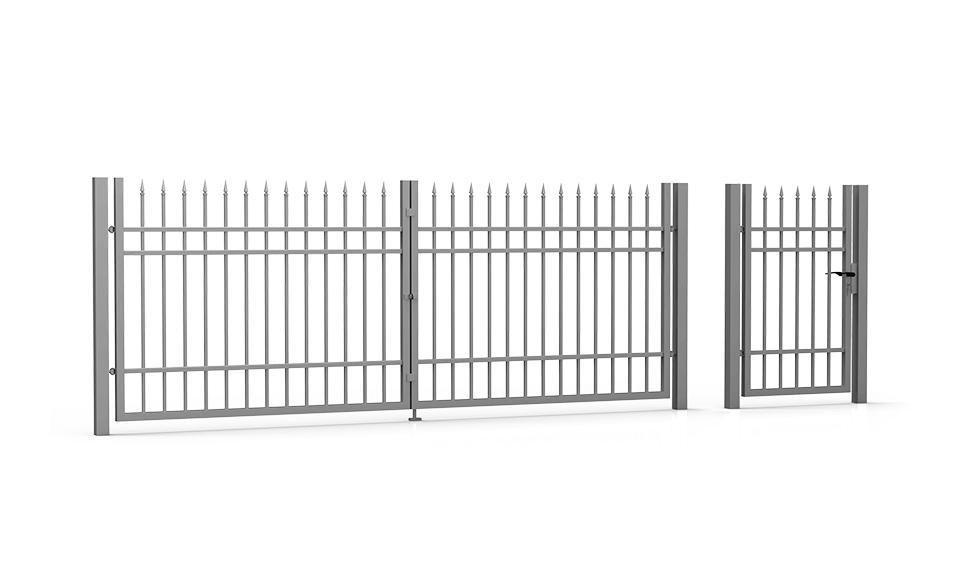 Brama skrzydłowa i furtka Modern
