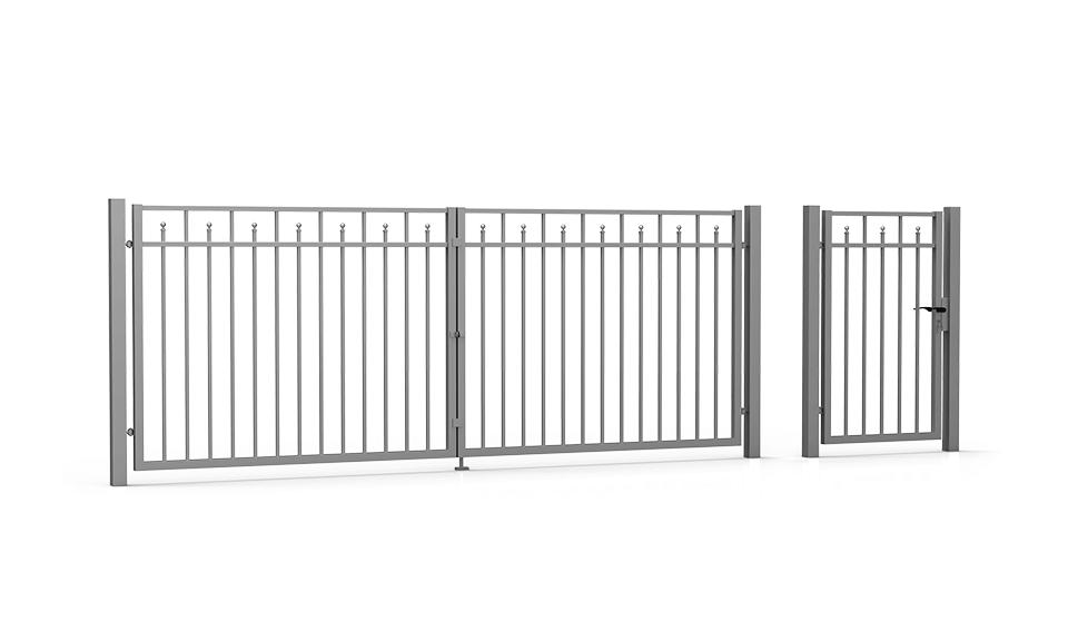 Brama skrzydłowa i furtka Residence