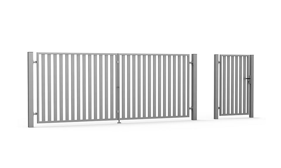 Brama skrzydłowa i furtka Vertical