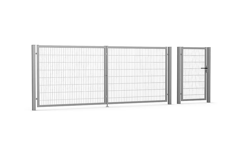 Brama skrzydłowa i furtka Guard 2D