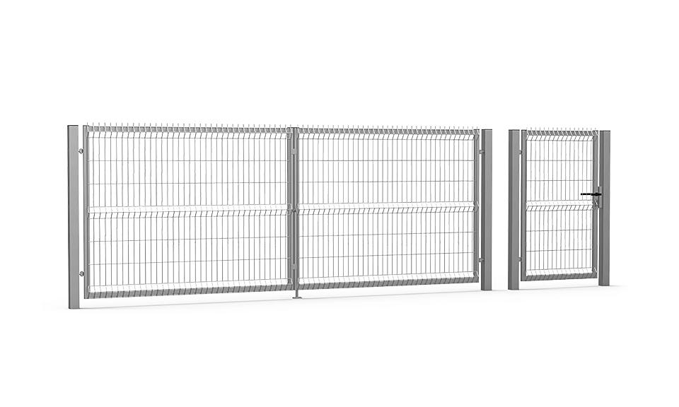 Brama skrzydłowa i furtka Optima 3D