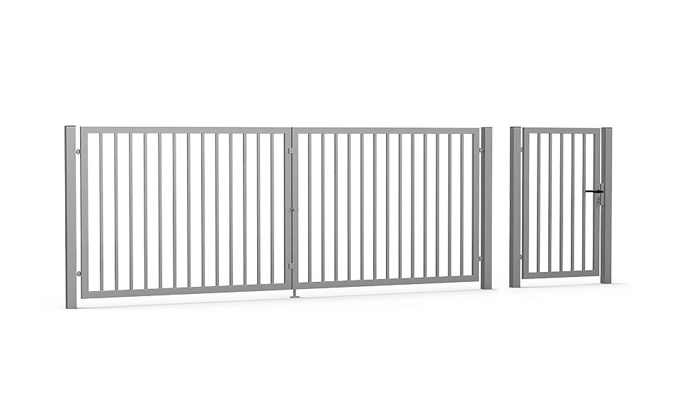 Brama skrzydłowa i furtka Security