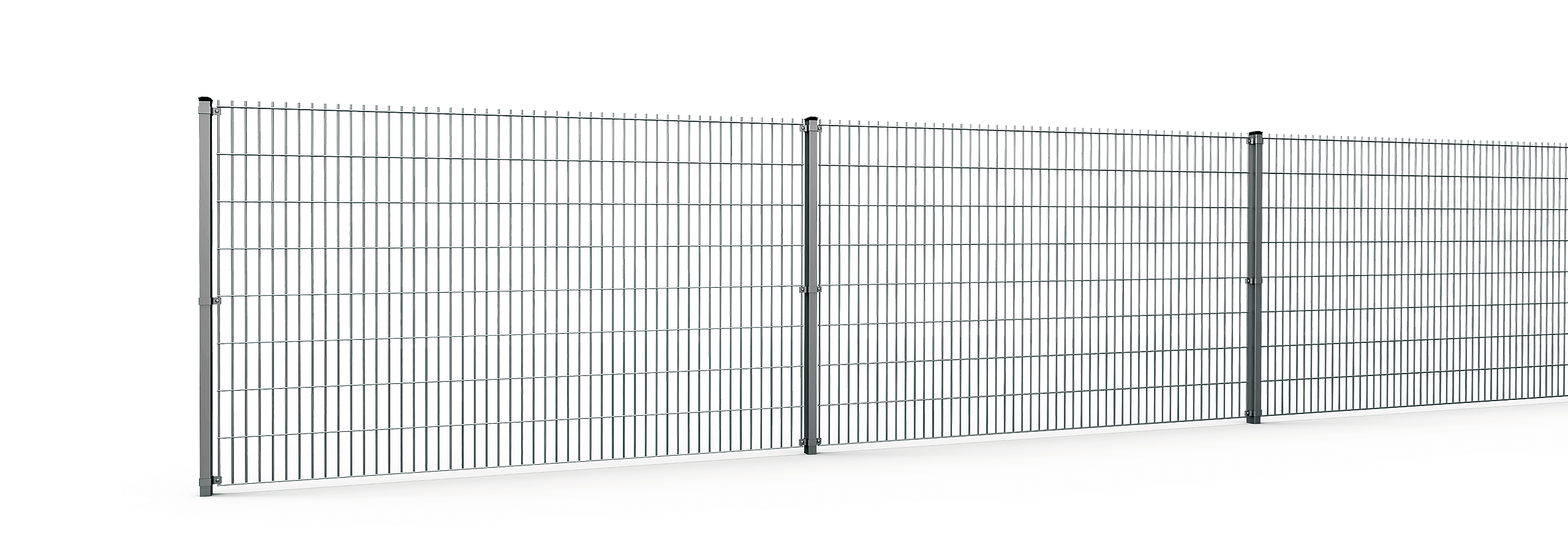 Straight 2D Panel Fences